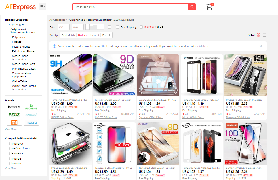 AliExpress Cellphones Accessories