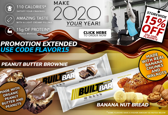 Get 15% Off Built Bar Amazing Flavors Storewide.