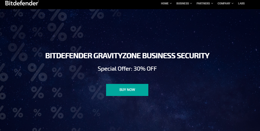 30% Off Bitdefender GravityZone Business Security