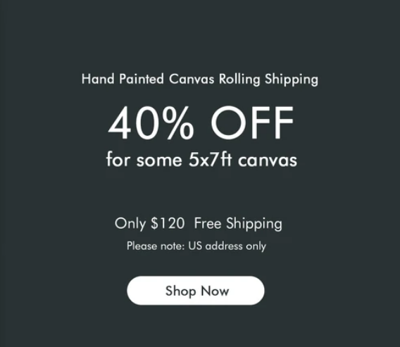 40% Off Kate Hand Painted Canvas Collection