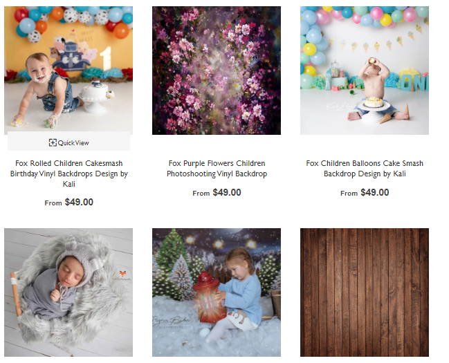 Buy 3 Get 1 Free Fox Backdrop's Photography Backdrops