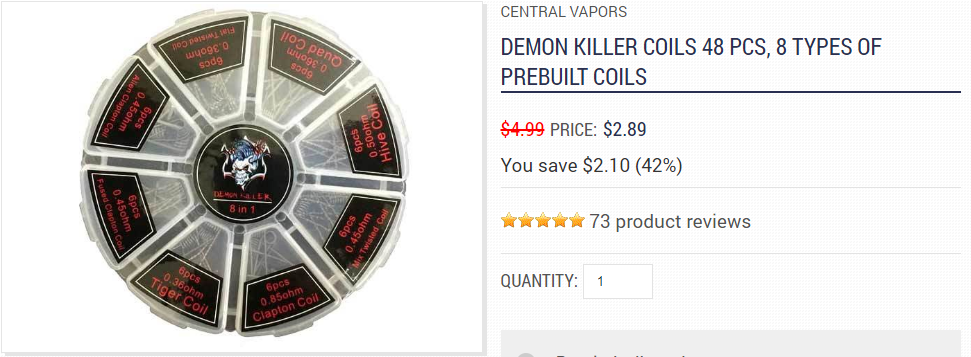 Central Vapors Demon Killer Coils