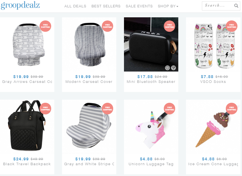 Groopdealz up to 70% off daily boutique deals