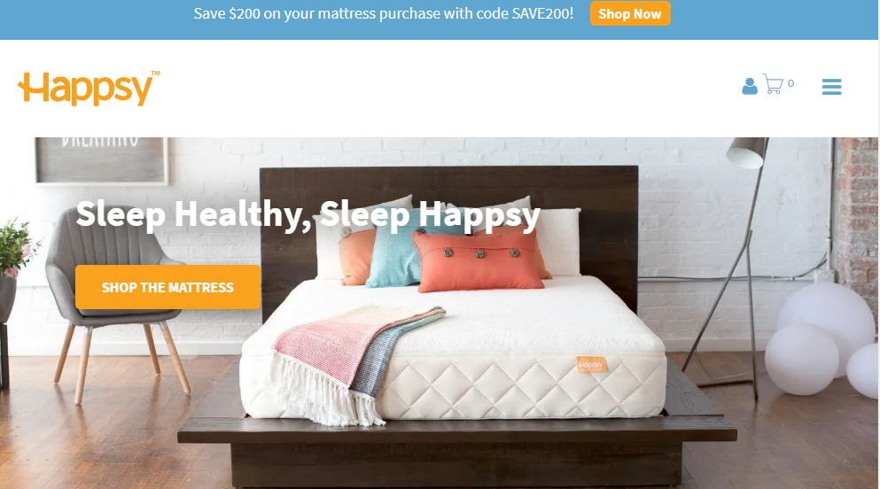 Happsy Mattress Coupons $200 Off