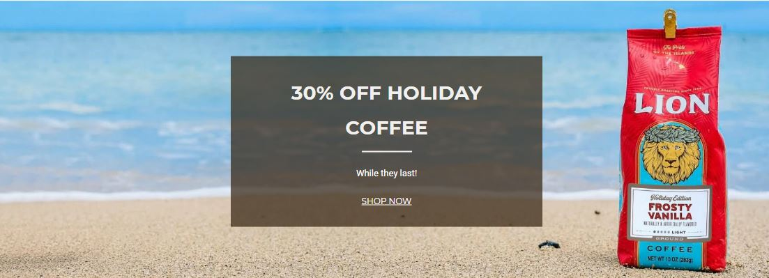 Hawaii Coffee Company Coupons 30% Off On Holiday