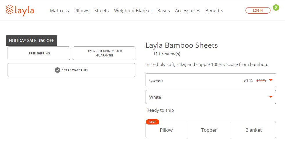 Layla Sleep Bamboo Sheets discount