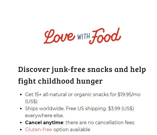 LoveWithFood Coupons 40% Off First Deluxe Box