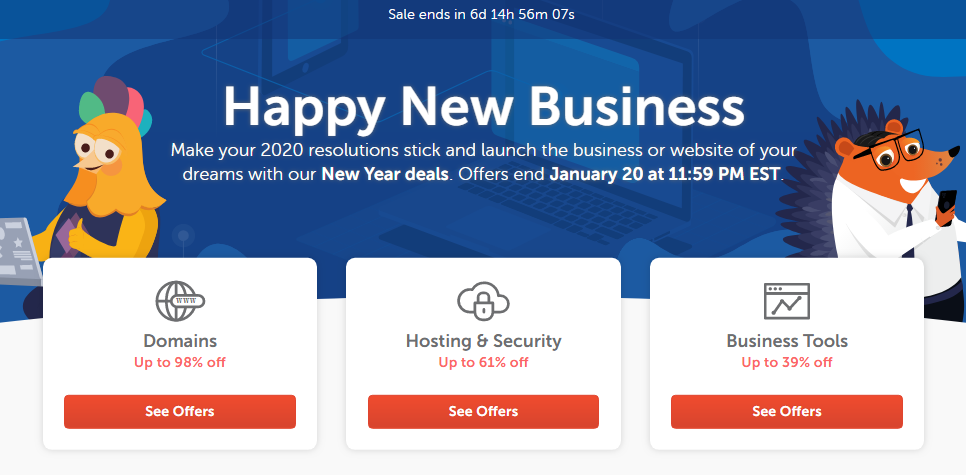 Namecheap Coupons New Year Sale Up to 98% Off Domains