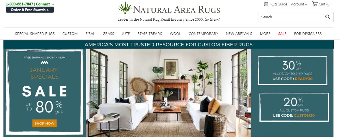 Natural Area Rugs Coupons 20% Off All Custom Rugs