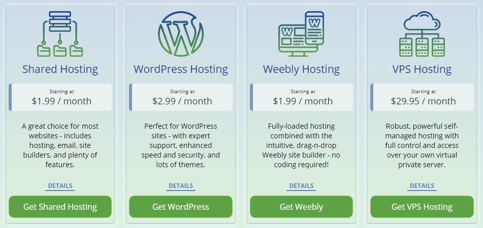 WebHostingPad Hosting Plans