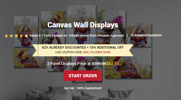 10% Extra Off Canvas Champ Canvas Wall Displays
