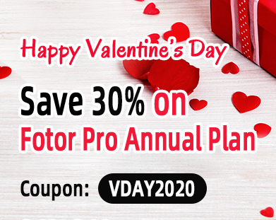 30% Off Fotor.com Coupons On Valentine's Day