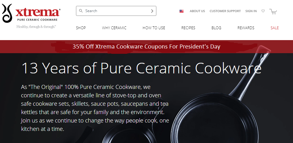 35% Off Xtrema Cookware Coupons For President's Day