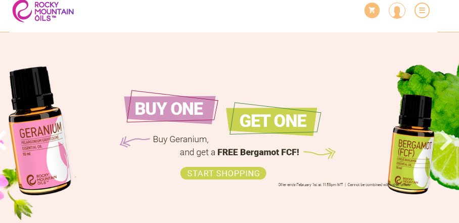 Buy Geranium Get Bergamot Free Rocky Mountain Oils
