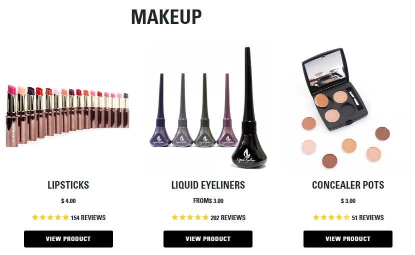 Coastal Scents Makeup Products
