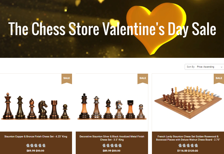 The Chess Store Valentines Day