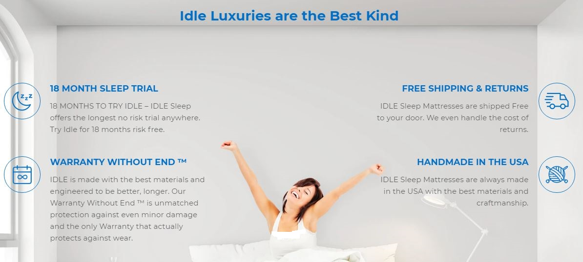 Idle Sleep Mattress Risk Free For 18 Months