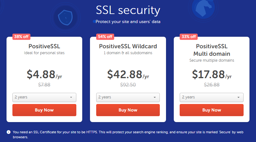 Up to 54% Off NameCheap Security Products