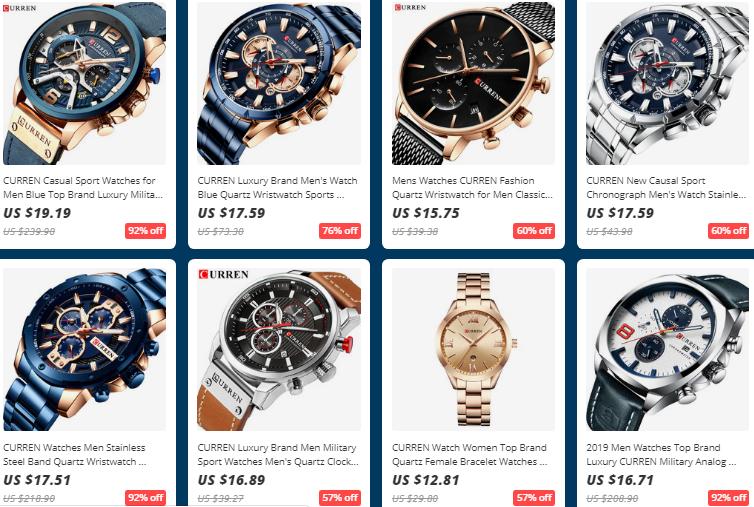 AliExpress Curren Watches