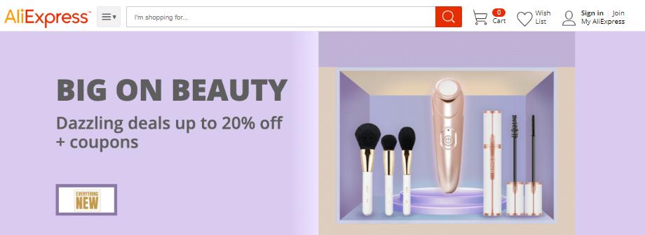 AliExpress beauty brands