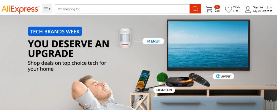 AliExpress tech brands