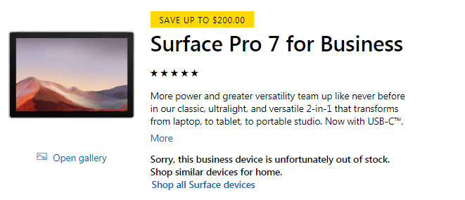 Surface Pro 7 Discount