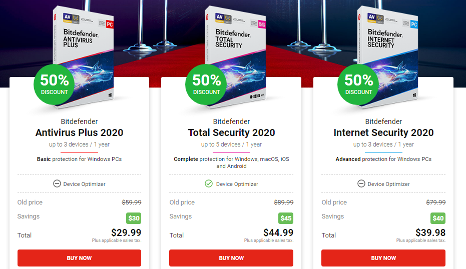 Bitdefender total security 50 off