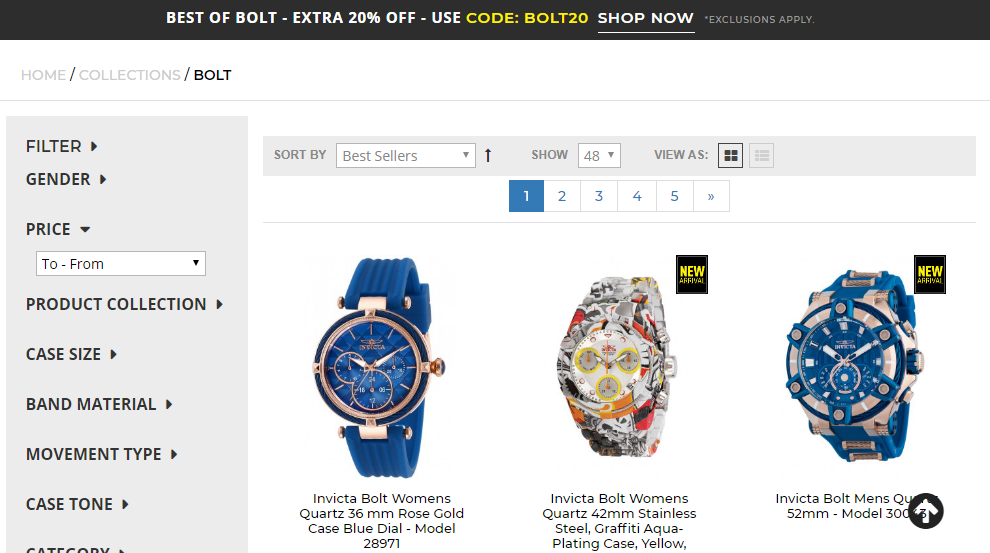 Invicta Stores Coupons