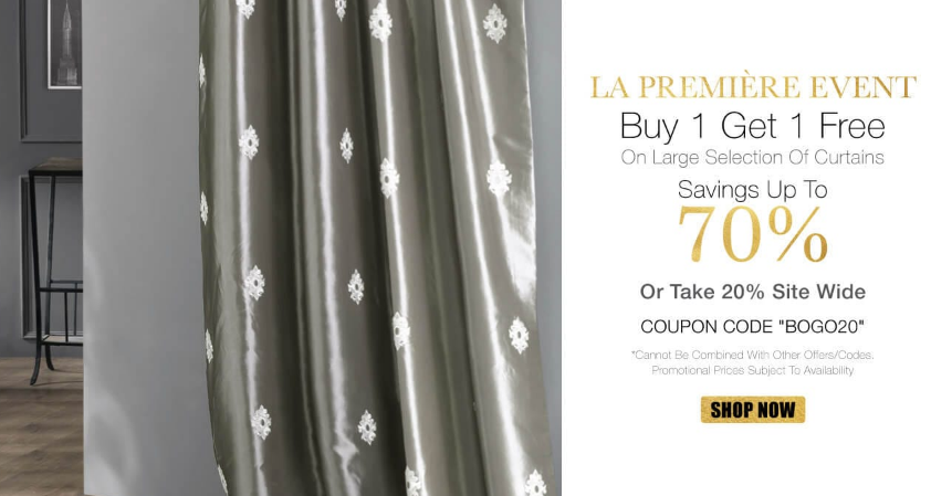 Buy 1 Get 1 Free Curtain At Half Price Drapes