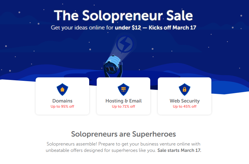 Up to 95% Off .Com Domains NameCheap in March