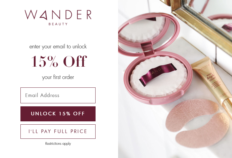 Wander Beauty New Customer Coupons