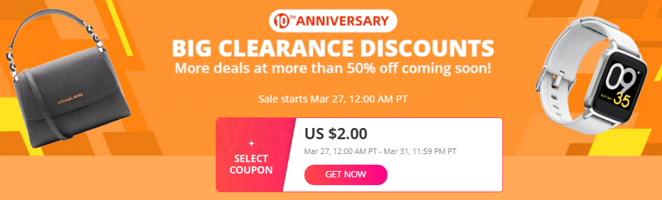 Aliexpress up to 50% off big clearance discount
