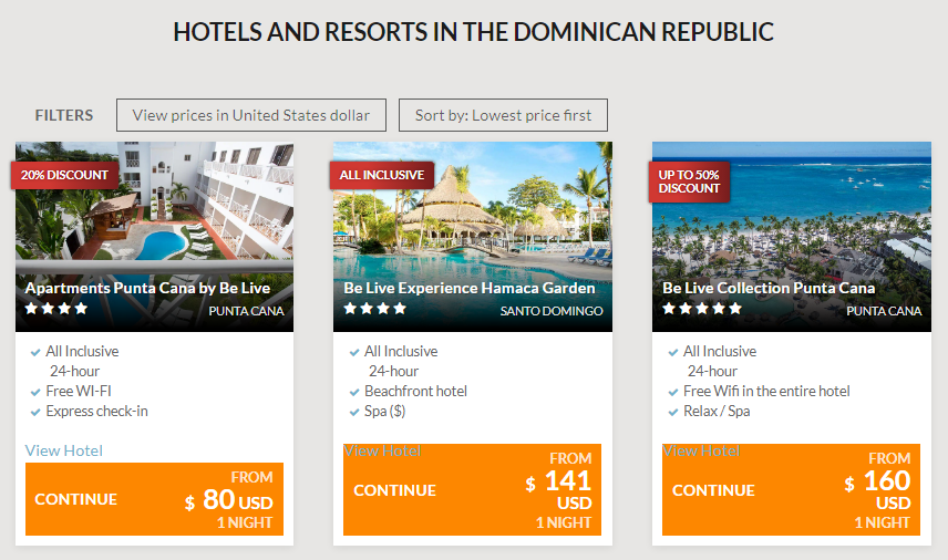 Be Live Hotels Dominican Republic