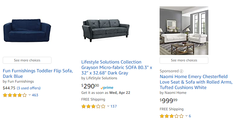 Amazon Sofas Free Shipping