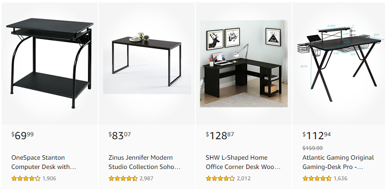 Amazon Best Sellers Desks Starts for sale