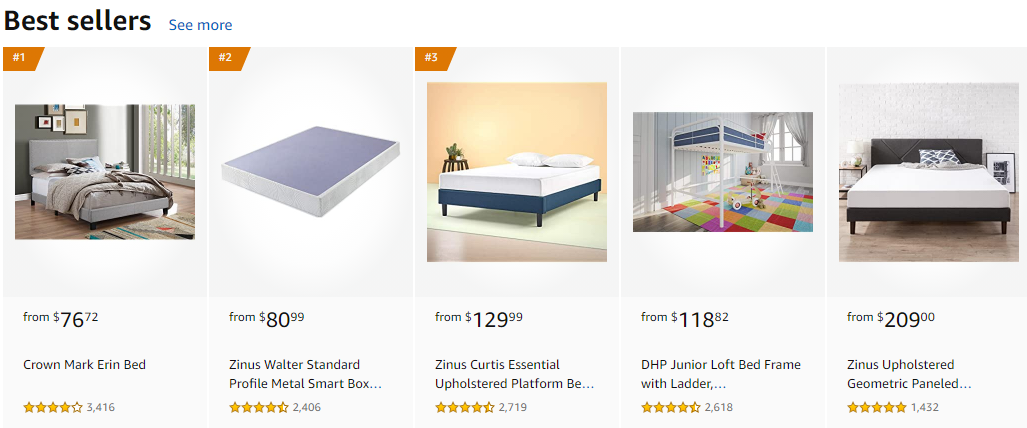 Amazon Best Sellers Beds for sale