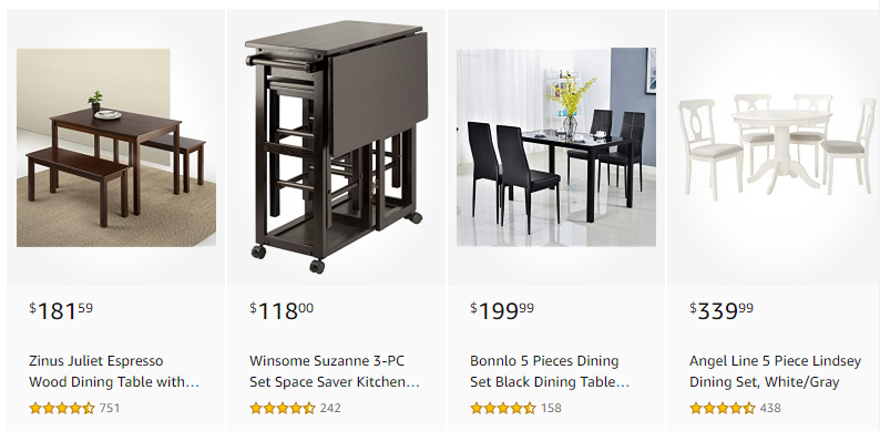 Amazon table and chair sets coupon