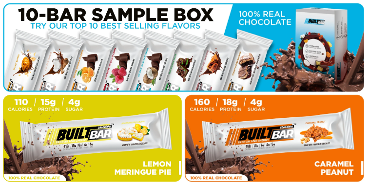 Built Bar Coupon Code Sample Box