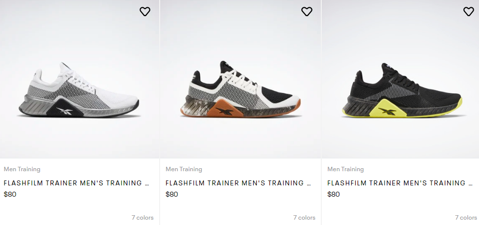 reebok running shoes discount