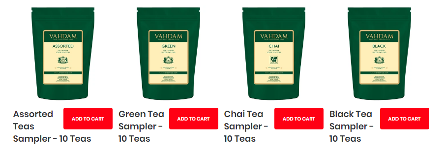 vahdam teas coupon code