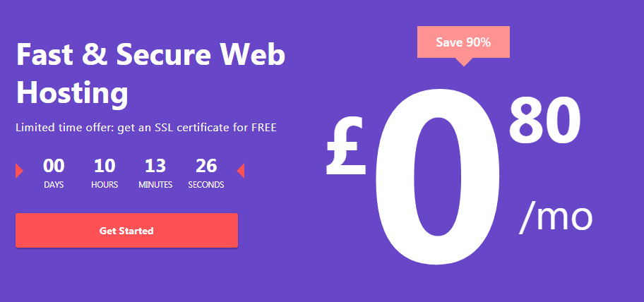 Hostinger Web Hosting UK Coupon