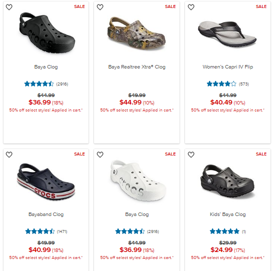 Crocs Coupon 50 Off
