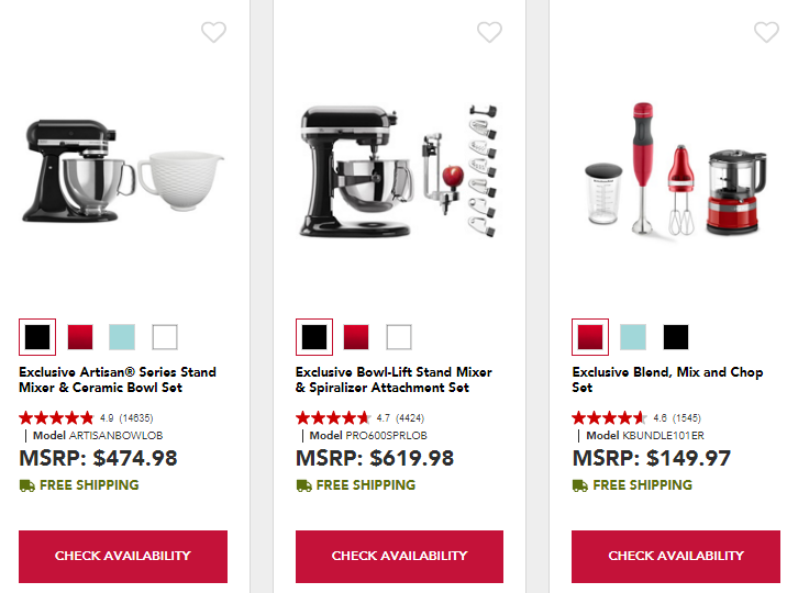 20% Off KitchenAid Kitchen Appliances Bundles