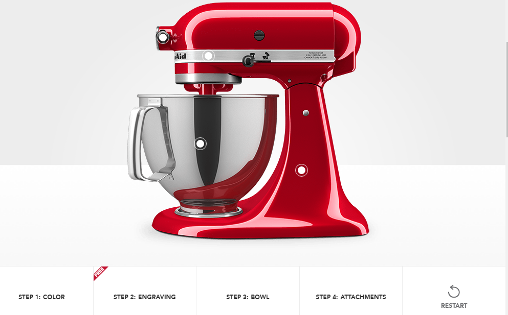 Kitchen Aid Customize Stand Mixer