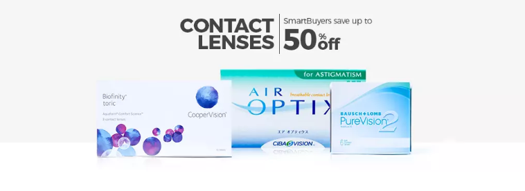 SmartBuyGlasses Contact Lenses discount