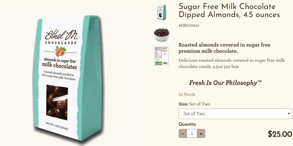 Sugar Free Milk Chocolate at Ethel M Chocolates