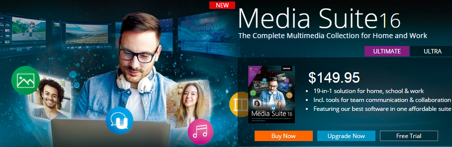 CyberLink Media Suite 16 Coupon
