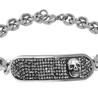 David Sigal Mens Skull Bracelet Gem and Harmony