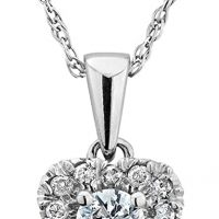 Diamond Heart Pendant Necklace 1/4 Carat Gem and Harmony