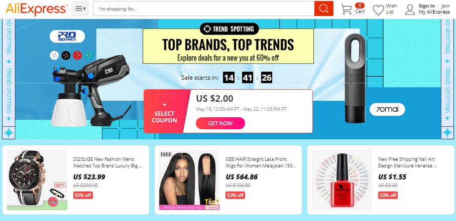 aliexpress coupons top trends